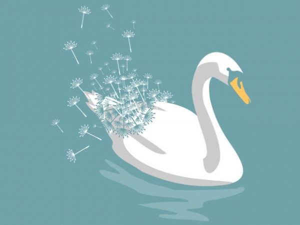 Swan Dandelion Tshirt Design
