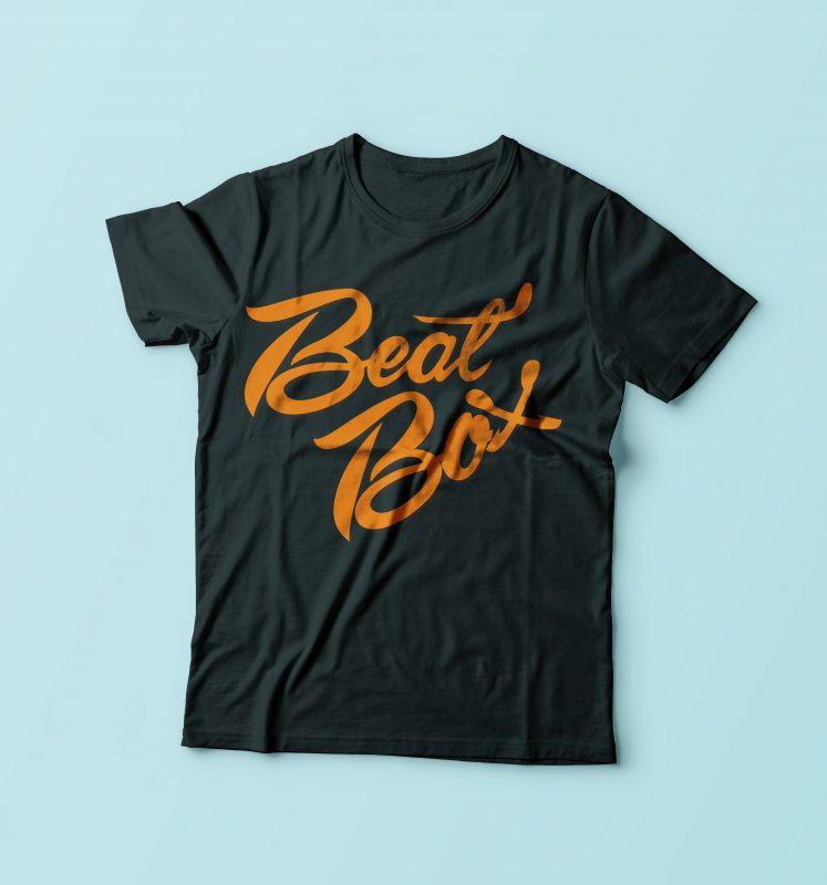 Beat Box t shirt designs for print on demand