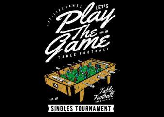 Table Football Vector t-shirt design