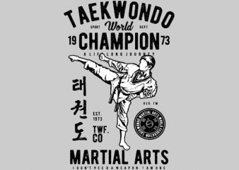 Taekwondo World Graphic t-shirt design