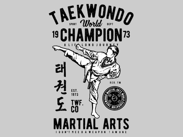 Taekwondo World Graphic t-shirt design