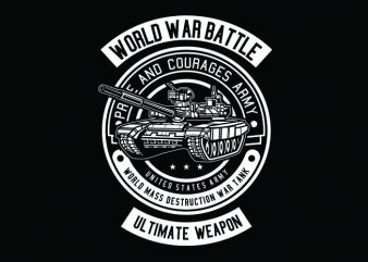 Tank War Tshirt Design