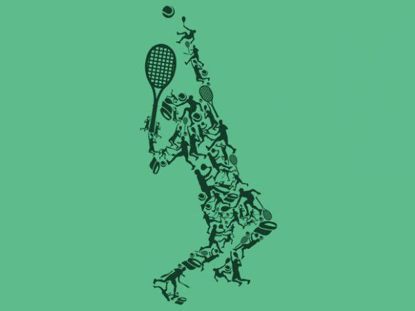 Tennis Tshirt Design