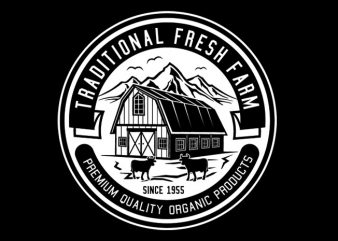 Traditional Fresh Farm Tshirt Design