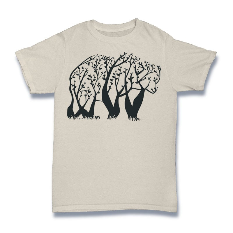 Tree Bear Tshirt Design buy t shirt design