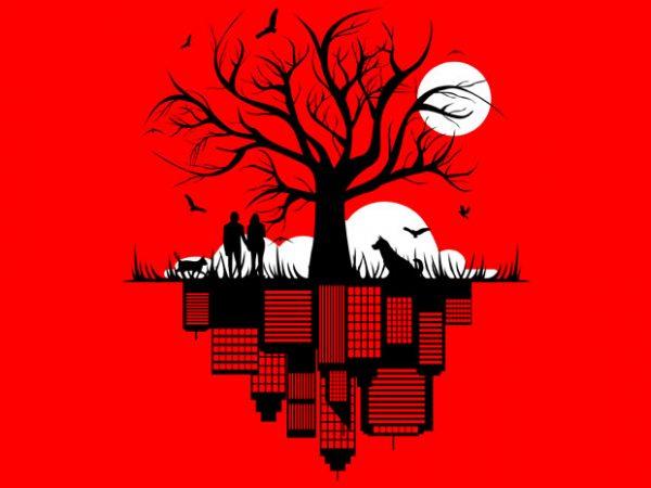 Tree City Tshirt Design