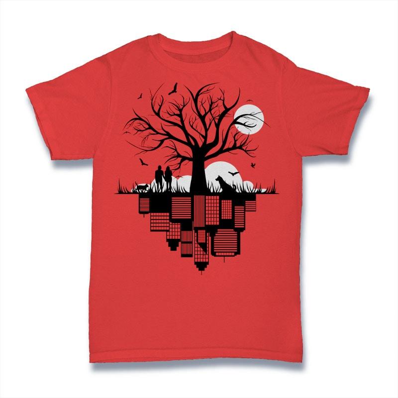 Tree City Tshirt Design tshirt designs for merch by amazon