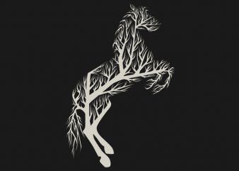 Tree Horse Tshirt Design