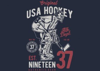 USA Hockey Vector t-shirt design