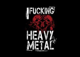 Heavy Metal Vector t-shirt design