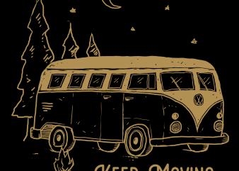 keep moving t shirt design template
