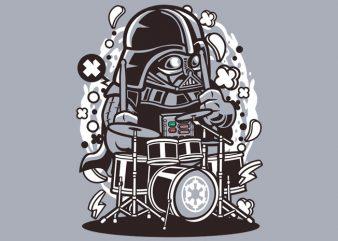 Darth Vader Drummer Tshirt Design