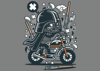 Darth Vader Motocross Tshirt Design