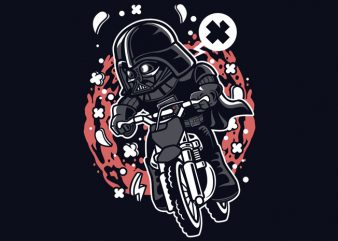 Vader Motocross Rider vector t-shirt design