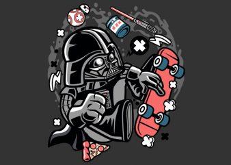 Darth Vader Skater Tshirt Design