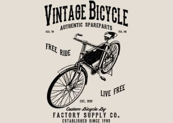 Vintage Bicycle Graphic t-shirt design