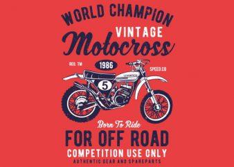 Vintage Motocross Graphic t-shirt design