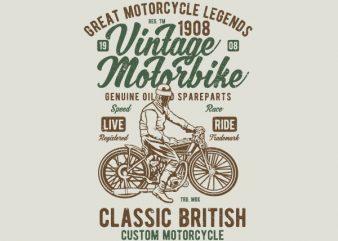 Vintage Motorbike Vector t-shirt design