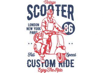 Vintage Scooter Vector t-shirt design