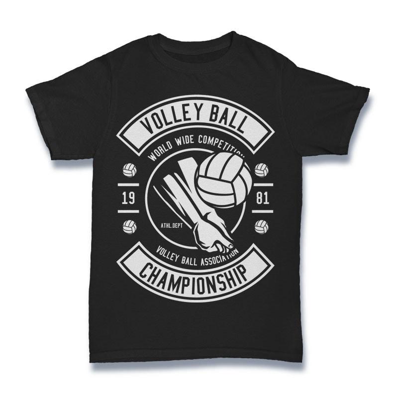 Volley Ball Tshirt Design t shirt design png
