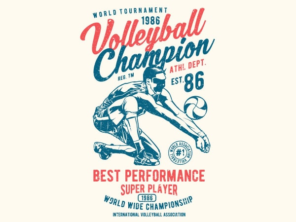 Volleyball Champion Vector t-shirt design