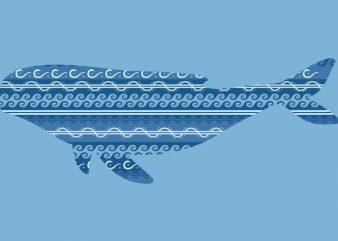 Whale Tshirt Design
