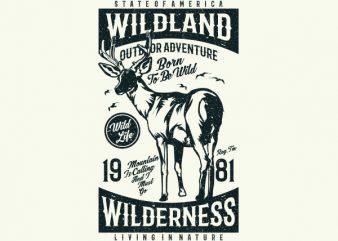 Wild Land Vector t-shirt design