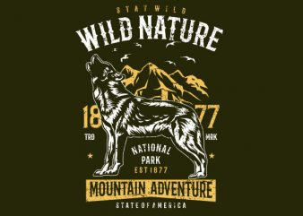 Wild Nature Vector t-shirt design