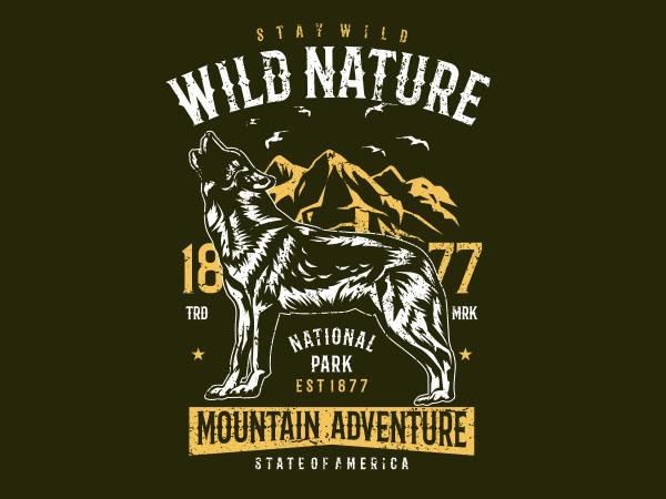 Wild Nature Vector t-shirt design