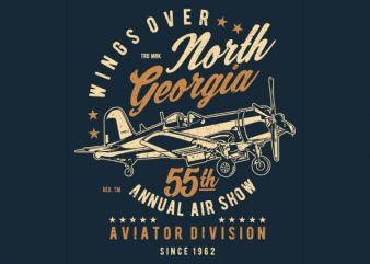 Wings Over North Georgia Vector t-shirt design