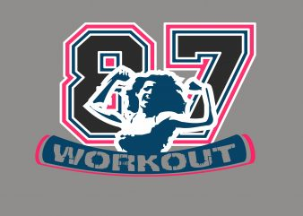 Work Out t shirt design for sale