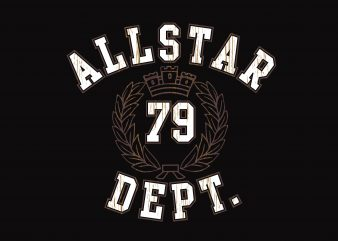 All Star 79 Dept design for t shirt