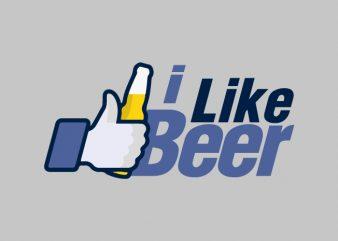 Like Beer design for t shirt