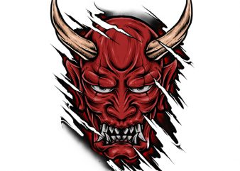 Red Hannya shirt design png