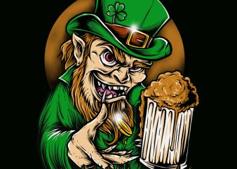 Leprechaun t shirt design png