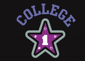 College vector t-shirt design