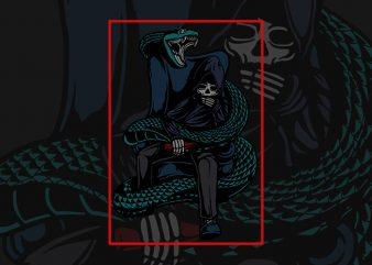 leader of the snake species vector t shirt design for download