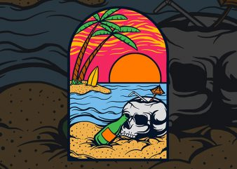 summer vibe vector t-shirt design