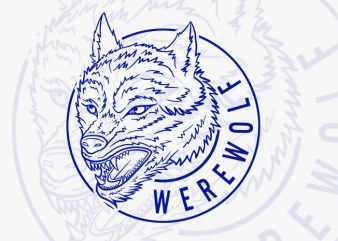 Werewolf t shirt design for sale