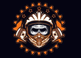 dead skull motocross vector t shirt design artwork