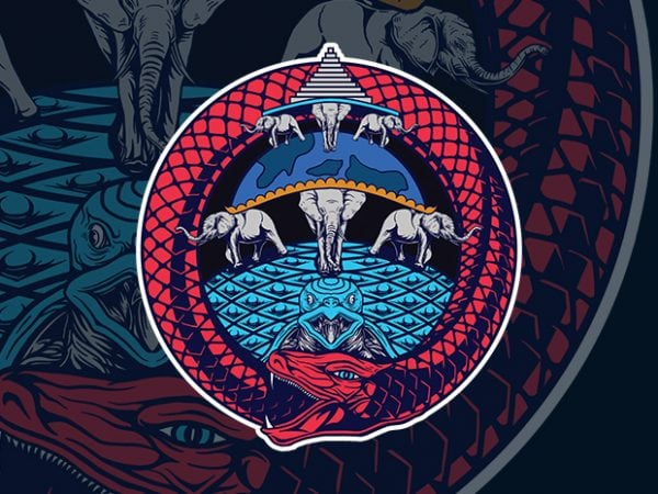 ouroborous t shirt design for purchase