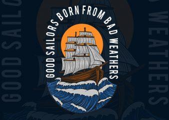 sailors print ready shirt design