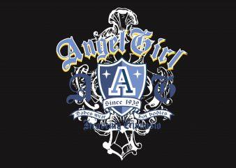 Angel Girl t shirt vector