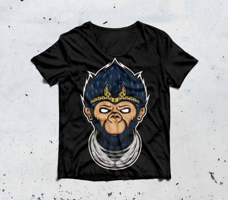 monkey king t shirt designs for teespring