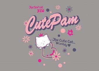 Cute Pam t shirt vector file