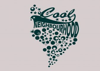 Cool Neighboard t shirt vector file