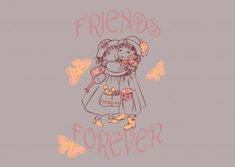 Friends Forever buy t shirt design for commercial use