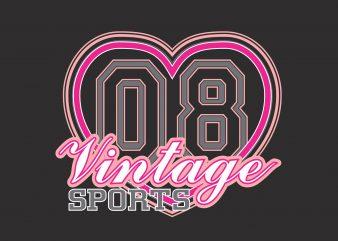 Vintage Sports 08 t shirt vector art