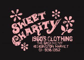 Sweet Charity graphic t-shirt design