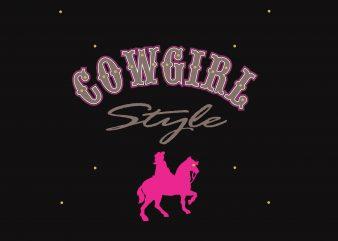 Cowgirl vector t shirt design artwork
